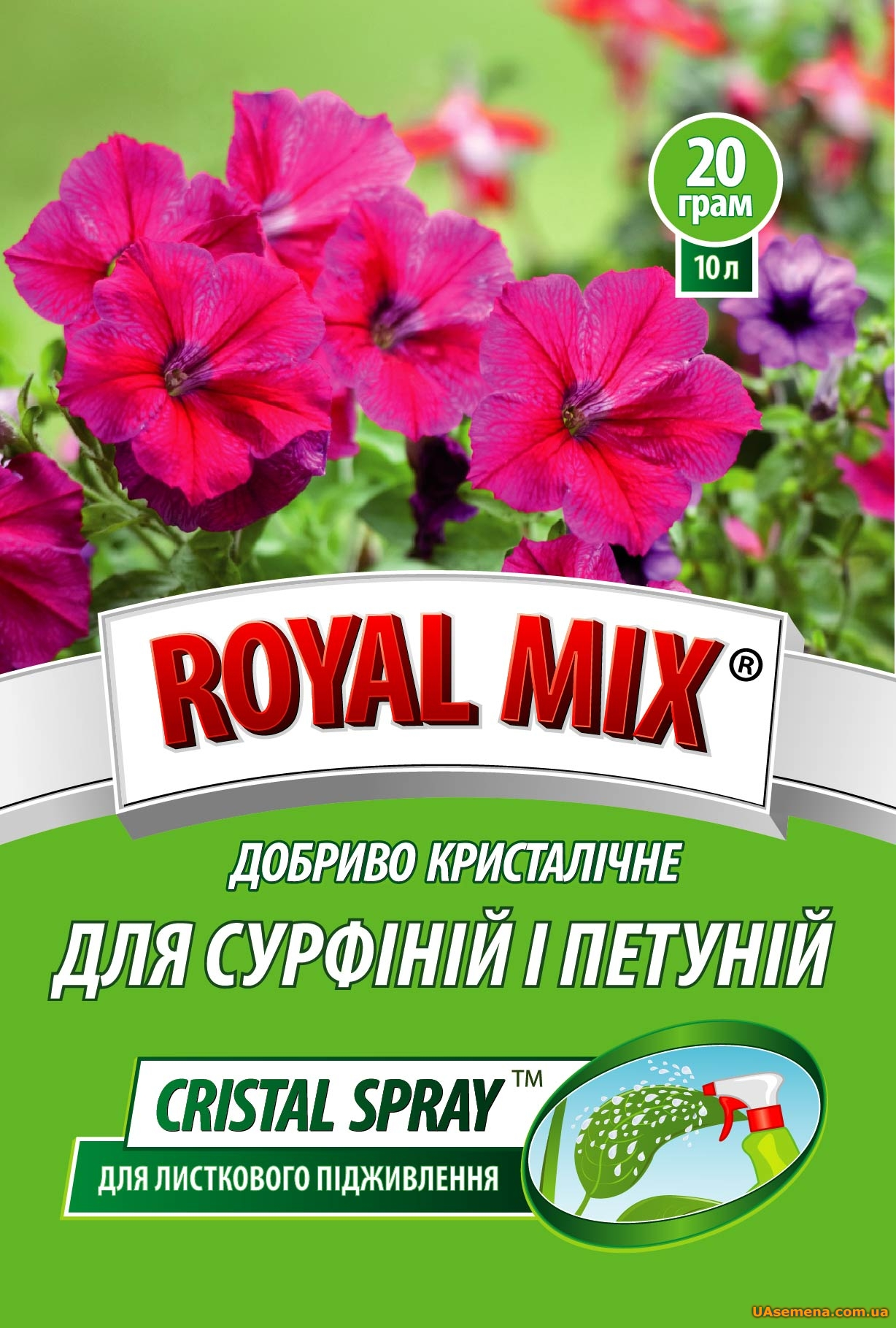"��������� - �����. ""ROYAL MIX - CRISTAL SPRAY"" ��� �������� � �������, 20 �"